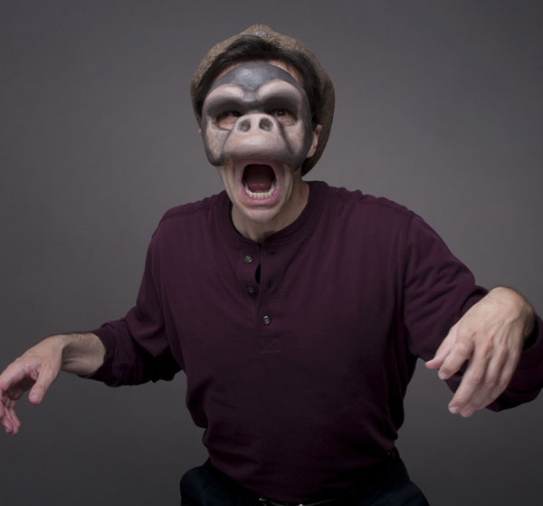 David Tyson Performance Artist in Monkey Mask